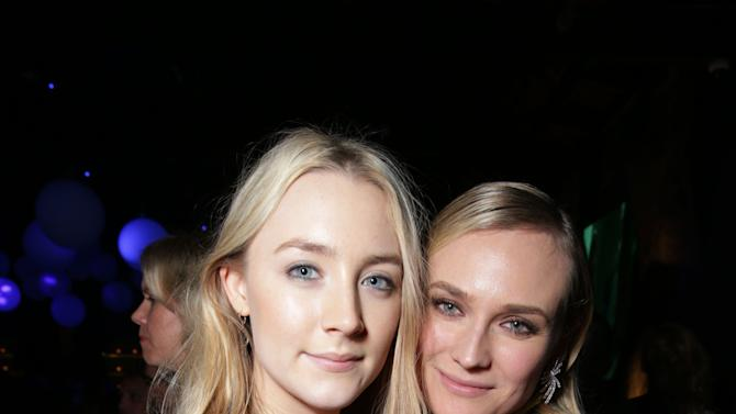 Saoirse Ronan and Diane Kruger at Open Road Films Los Angeles Premiere of 'The Host' held at the ArcLight Hollywood, on Tuesday, March, 19, 2013 in Los Angeles. (Photo by Eric Charbonneau/Invision for Open Road Films/AP Images)