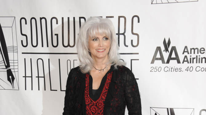 FILE - In this June 14, 2012 file photo, singer Emmylou Harris arrives at the 2012 Songwriters Hall of Fame induction and awards gala at the Marriott Marquis Hotel, in New York. Prosecutors on Wednesday Jan. 30, 2013, charged Harris with misdemeanor hit-and-run for leaving an Oct. 1, 2012 accident on a Los Angeles freeway without exchanging info with another  driver. (Photo by Evan Agostini/Invision, File)