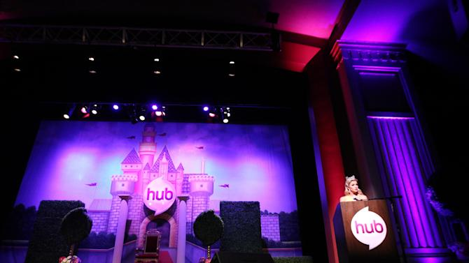 """Miss America 2013 Mallory Hagan speaks on stage at The Hub TV Network's """"My Little Pony Friendship is Magic"""" Coronation Concert at the Brentwood Theatre on Saturday, Feb. 9, 2013, in Los Angeles in support of Children's Hospital LA. (Photo by Matt Sayles/Invision for The Hub/AP Images)"""