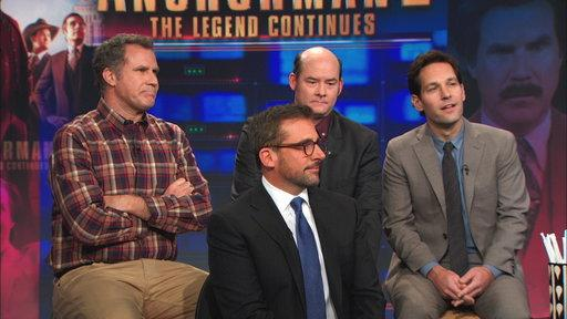 Steve Carell, Will Ferrell, David Koechner, and Paul Rudd
