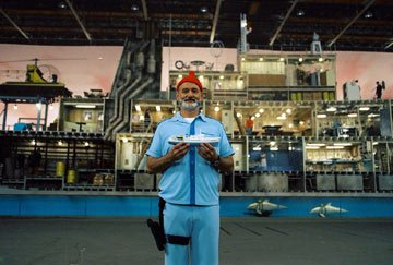 Bill Murray on the set of Touchstone Pictures' The Life Aquatic with Steve Zissou