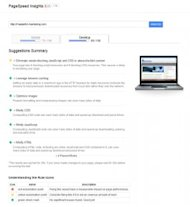 Website Speed – Important for Inbound Marketing image google pagespeed insights desktop 276x300