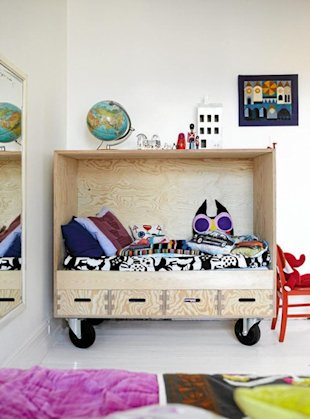 Rolling Cupboard Bed