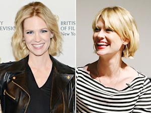 January Jones Hair: Mad Men Star Gets Bangs