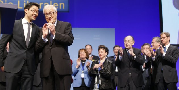FDP party leader Roesler receives applause after speech at two-day party convention in Berlin