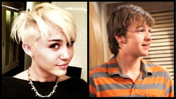 Miley Cyrus and Angus T. Jones