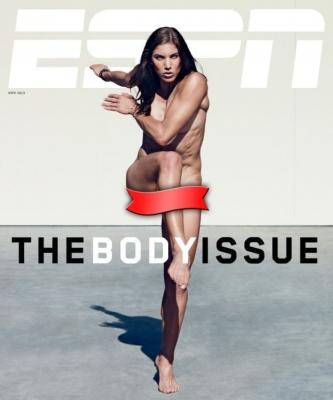 Hope Solo on the cover of ESPN's annual 'The Body Issue' -- ESPN