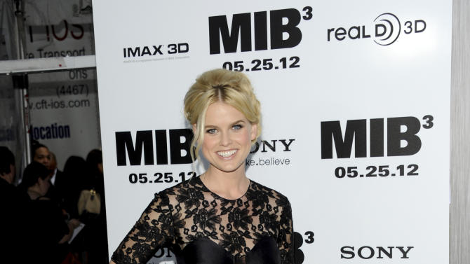"""Actress Alice Eve arrives at the premiere of """"Men in Black 3"""" at the Ziegfeld Theater on Wednesday May 23, 2012 in New York. (Photo by Evan Agostini/Invision/AP)"""