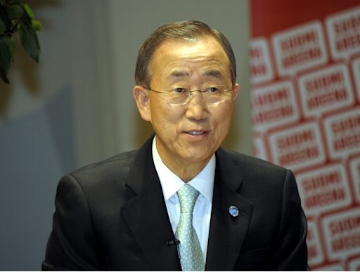 UN Secretary-General Ban Ki Moon speaks at seminar in Pori