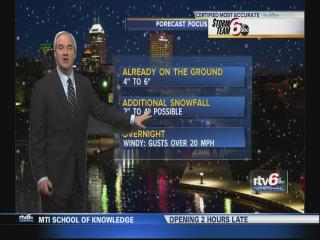 Overnight snow expected