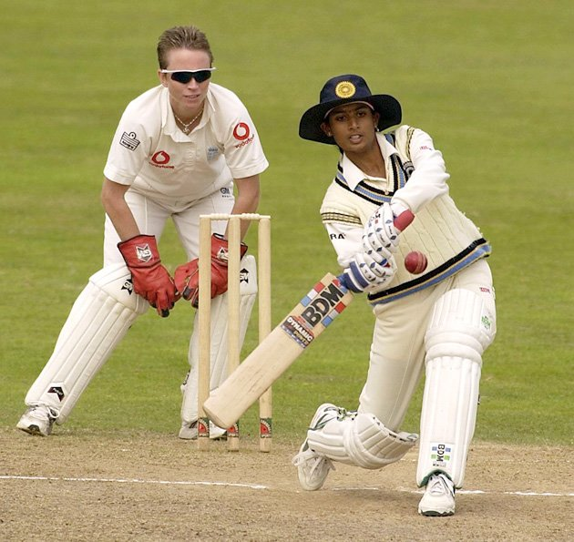 England captain Clare Connor celebrates taking an Indian wicket