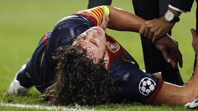 Barcelona centre back Carles Puyol (Reuters)