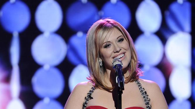 "Erika Van Pelt performs ""I Believe in You and Me"" by Four Tops on American Idol."""