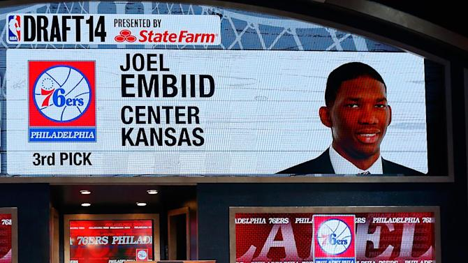 76ers take Embiid with 3rd pick in the NBA draft