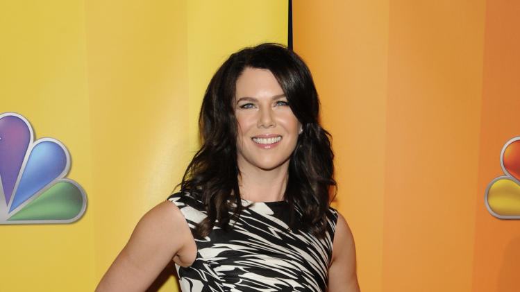 "Actress Lauren Graham, from ""Parenthood"", attends the NBC Network Upfront on Monday, May 16, 2011 in New York. (AP Photo/Evan Agostini)"