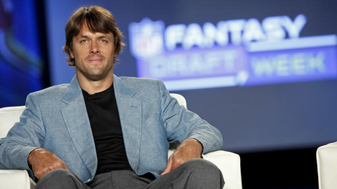 Former NFL quarterback Jake Plummer is seen during the DirecTV NFL Fantasy Week on Thursday, Aug. 23, 2012 at the Best Buy theatre in Times Square in New York. (Photo by Brian Ach/AP Images for NFL)
