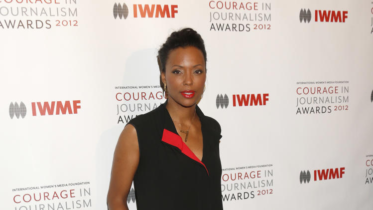 Aisha Tyler arrives at the 2012 Courage in Journalism Awards hosted by the International Women's Media Foundation held at the Beverly Hills Hotel on October 29, 2012 in Beverly Hills, California.  (Photo by Todd Williamson/Invision/AP Images)