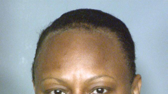 This booking photo provided by the Clark County Detention Center in Las Vegas, Nev,. Saturday, Dec. 22, 2012, shows 50-year-old Brenda Stokes. Police in Las Vegas have issued a plea for information about 10-year-old Jade Morris after she failed to return home Friday, Dec. 21, 2012, from a shopping trip with a woman who is thought to be Stokes. Stokes was arrested that night and accused of slashing the face of a female co-worker at the Bellagio resort on the Las Vegas Strip. She made her first appearance in Las Vegas Justice Court Wednesday, Dec. 26, 2012. (AP Photo/Clark County Detention Center )