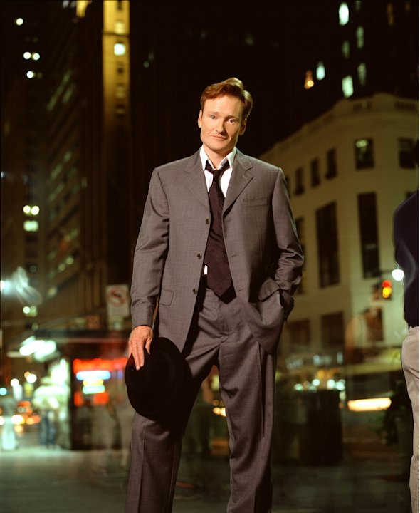 Conan O'Brien hosts Late Night with Conan O'Brien on NBC. 