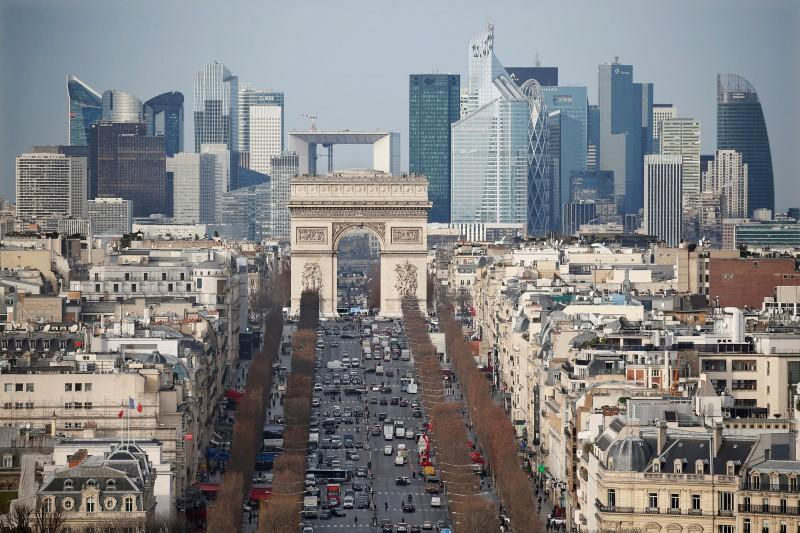 Euro zone business growth stable in August, France surprises upwards