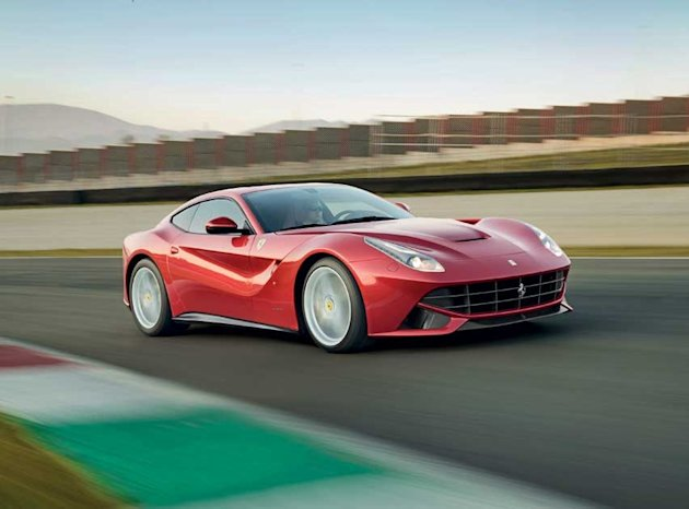 Ferrari F12 Berlinetta: 	No-one ever moaned their Ferrari 599GTB lacked power, but its F12 replacement has a titanic 6.3 litre V12 engine capable of delivering 730bhp – 119bhp more than the 599 – if t