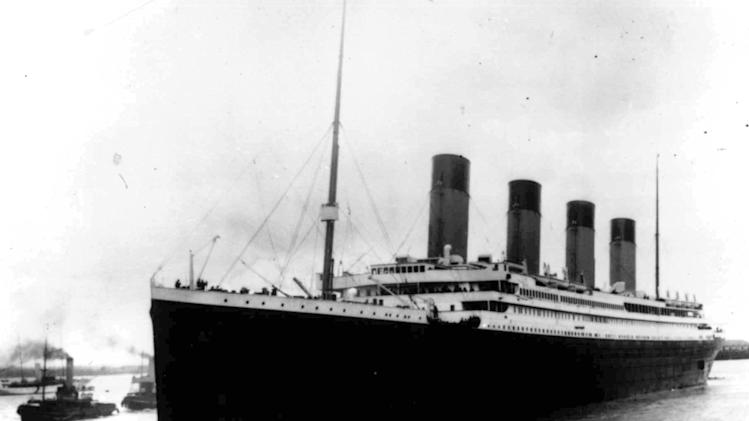 In this April 10, 1912, file photo, the liner Titanic leaves Southampton, England on her maiden voyage. Nearly 100 years after the Titanic went down, a cruise with the same number of passengers aboard is setting sail to retrace the ship's voyage, including a visit to the location where it sank. The Titanic Memorial Cruise is set to depart Sunday, April 8, 2012, from Southampton, where the Titanic left on its maiden voyage. (AP Photo/File)