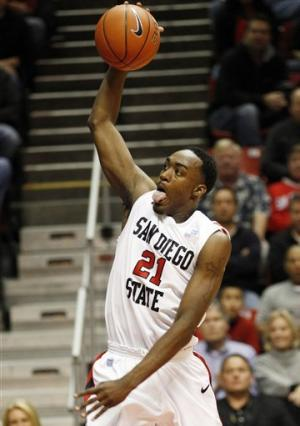 Franklin leads No. 25 SDSU over Redlands 94-43