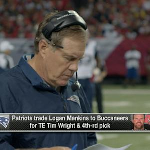 How much will Tom Brady miss Logan Mankins?