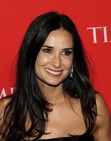 Actress Demi Moore in 2010, prior to her split from Ashton Kutcher.
