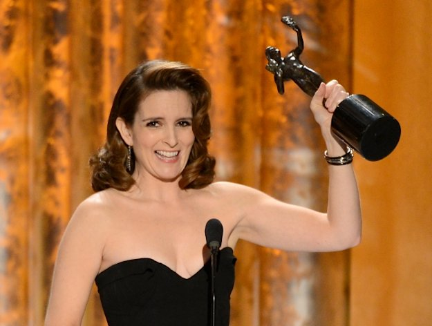 Tina Fey accepts the award for Outstanding Performance by a Female Actor in a Comedy Series for &#39;30 Rock&#39; onstage during the 19th Annual Screen Actors Guild Awards held at The Shrine Auditorium on January 27, 2013 --
