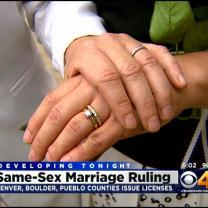 Gay Couples Start Getting Marriage Licenses In Denver