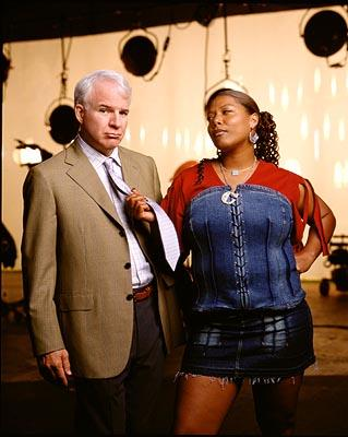 Steve Martin and Queen Latifah in Touchstone's Bringing Down The House