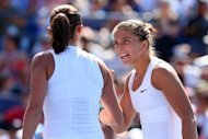 Sara Errani and Roberta Vinci of Italy react against Andrea Hlavackova and Lucie Hradecka of the Czech Republic during their women&#39;s doubles final match on Day Fourteen of the 2012 US Open. Errani and Vinci won the US Open women&#39;s doubles title on Sunday with a 6-4, 6-2 triumph
