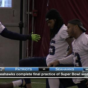 Seattle Seahawks complete final practice before Super Bowl XLIX