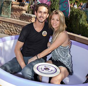 Kaley Cuoco, Husband Ryan Sweeting Visit Disneyland: Adorable Teacup Pictures!