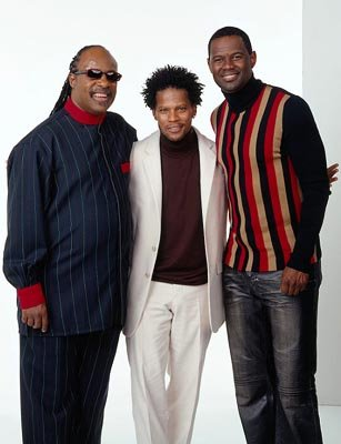Stevie Wonder, D.L. Hughley and Brian McKnight Motown Christmas - 2002