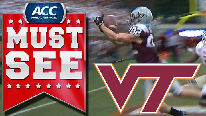 Virginia Tech's Logan Thomas Hits Willie Byrn For Game-Tying Touchdown | ACC Must See Moment