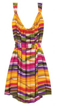Silk Multicolor Dress Courtesy of Bombshell.