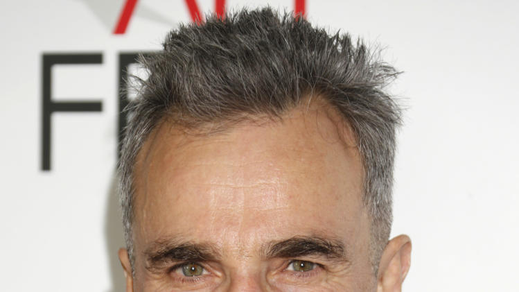 "FILE - In this Thursday, Nov. 8, 2012 photo, Daniel Day-Lewis arrives at the ""Lincoln"" premiere at AFI Fest at Grauman's Chinese Theatre in Hollywood, California.  ""Lincoln,"" which opened in limited release Nov. 9, 2012 and expands nationwide Friday, Nov. 16, is based partly on Doris Kearns Goodwin's book ""Team of Rivals: The Political Genius of Abraham Lincoln,"" which chronicles how the president turned fierce opponents into allies during the Civil War.  (Photo by Todd Williamson/Invision/AP Images, File)"
