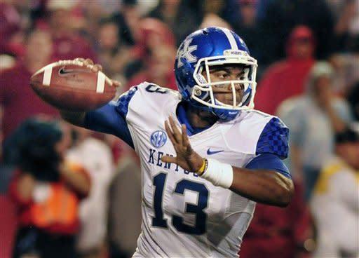 Wilson's 5 TDs leads Arkansas past Kentucky 49-7