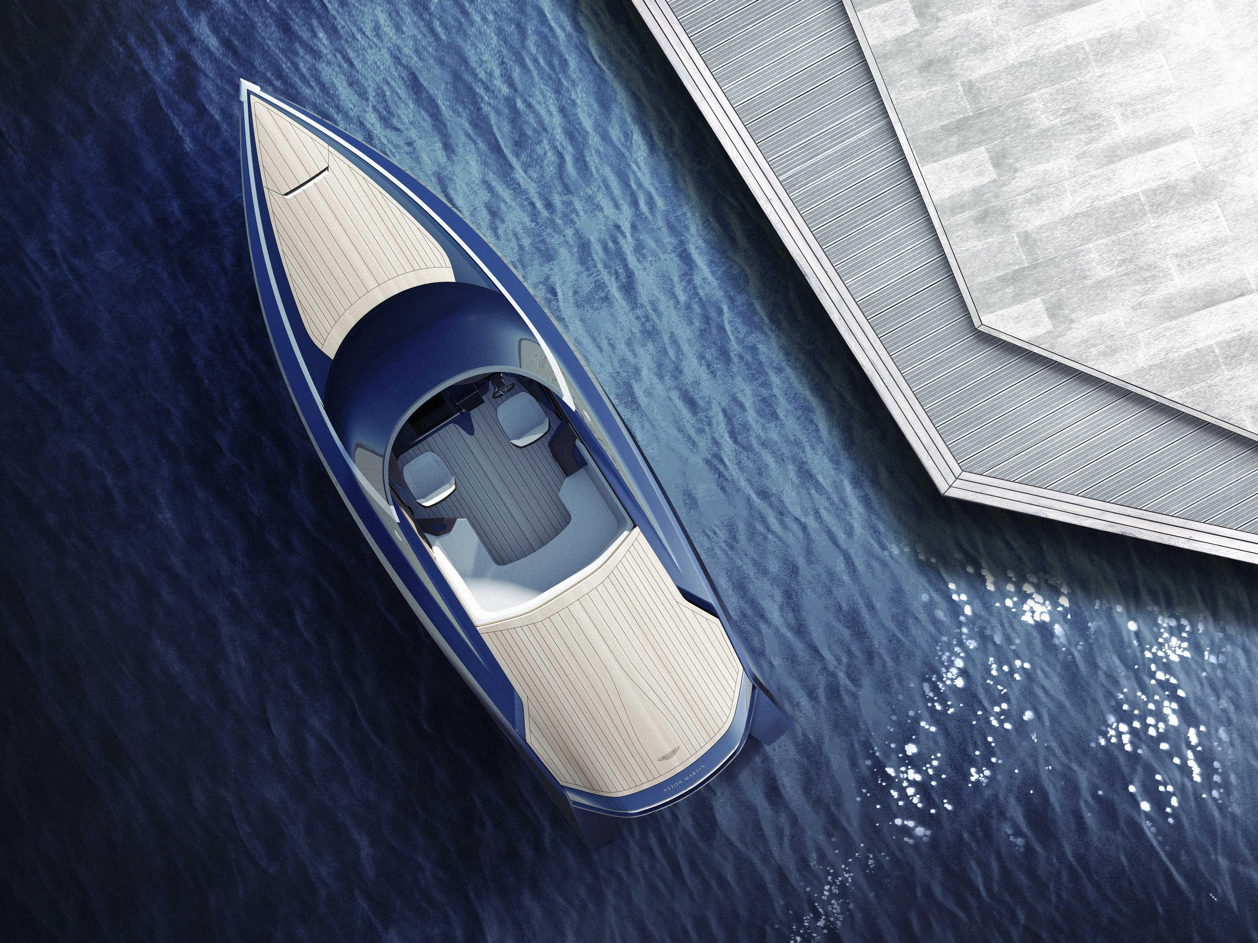 If you want Aston Martin's new power boat, you'll have to keep a secret