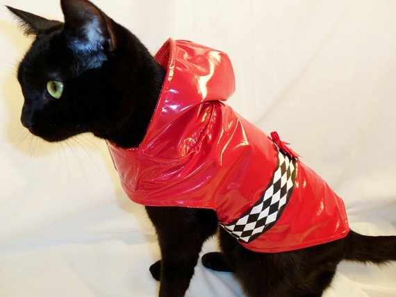 Cat Raincoat by Etsy