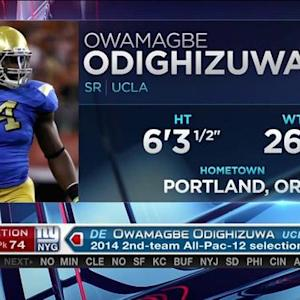 New York Giants pick defensive end Owamagbe Odighizuwa No. 74 in 2015 NFL Draft