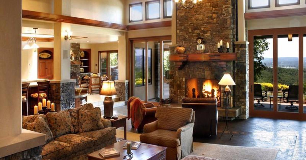 22 Cozy Country Living Rooms