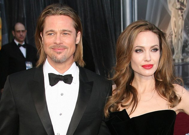 Brad Pitt, Angelina Jolie, Olympics party