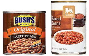 Bush&amp;#39;s beans vs. Food Lion