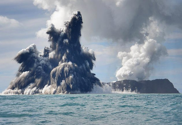 Underwater volcano