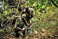 File picture shows Ugandan soldiers during an operation against Lord's Resistance Army (LRA) rebels lst month. Uganda's army has captured a top commander of the rebel Lord's Resistance Army (LRA), a spokesman said Sunday