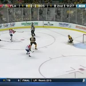 Tuukka Rask Save on Shawn Thornton (10:34/2nd)