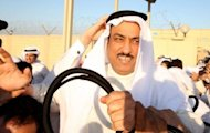 Kuwaiti former opposition MP Mussallam al-Barrak is freed from the central prison in the Sulaibiya district of Kuwait City. Kuwait on Thursday released Barrak on bail after a night of violent protests against his detention that left dozens hurt, his lawyer and an AFP photographer said